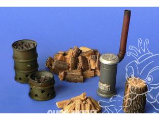 Hauler accessoires diorama HLX48401 Poêle et Fut brasero en resine 1/48