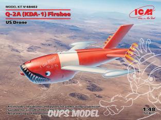 Icm maquette avion 48402 KDA-1(Q-2A) Firebee US Drone 1/48