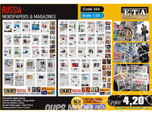 ETA diorama 364 Journaux et magazines moderne Russe 1/35