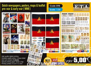 ETA diorama 598 Journaux et posters Allemand pré-guerre et WWII 1/35