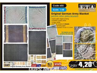 ETA diorama 655 Couvertures originales armée Allemande WWII 1/48