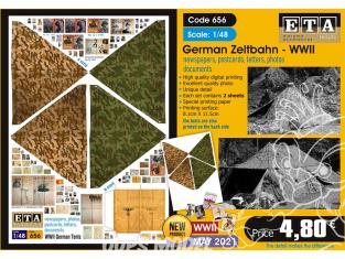 ETA diorama 656 Toile de tente , cartes, photos, lettres et documents Allemand WWII 1/48