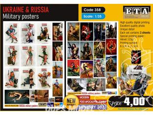 ETA diorama 358 Posters Militaire Russe moderne 1/35