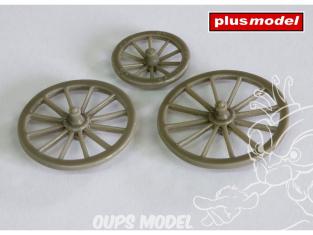 Plus Model Diorama EL067 Trois Roues charette façon bois 1/35