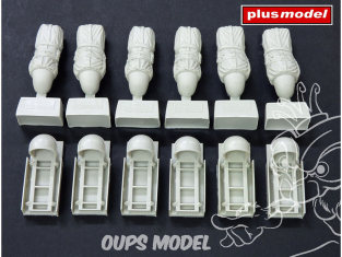 Plus Model AL4069 C-47 Skytrain racks pour conteneurs de largage 1/48