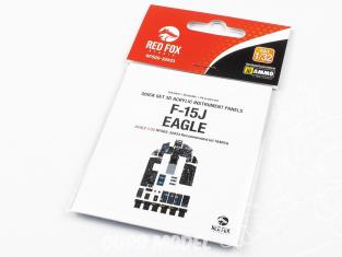 Red Fox Studion Tableaux de bord 3D avion RFQS-32033 F-15J Eagle Tamiya 1/32