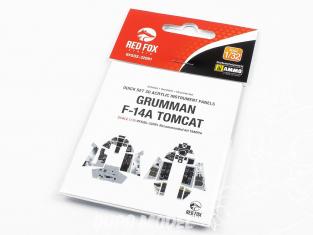 Red Fox Studion Tableaux de bord 3D avion RFQS-32081 Grumman F-14A Tomcat Tamiya 1/32