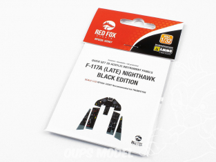 Red Fox Studion Tableaux de bord 3D avion RFQS-32087 F-117A (Late) Nighthawk Black Edition Trumpeter 1/32