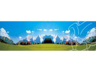 Faller 180513 Arrière-plan de modèle prairie sur fond de montagne