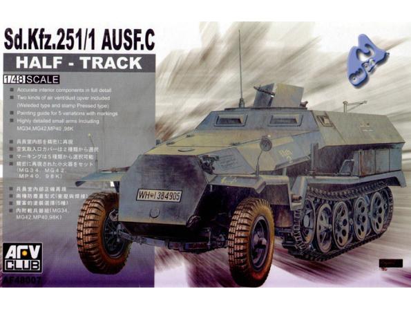 Afv Club maquette militaire 48007 Sd.Kfz. 251/1 Ausf C 1/48