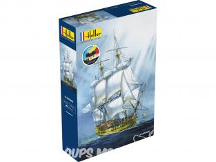 Heller maquette bateau 58895 STARTER KIT Le Superbe inclus peintures principales colle et pinceau 1/150