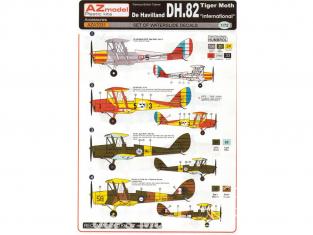 AZ Model Decalques avion AZA7031 De Havilland DH.82 Tiger Moth 1/72