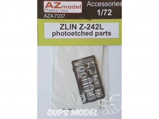 AZ Model Kit de détaillage AZA7037 Photodecoupe pour un Zlin Z-242L 1/72
