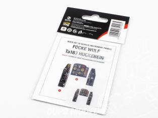 Red Fox Studio Tableaux de bord 3D avion RFQS-48007 Focke Wulf Ta183 Huckebein Academy 1/48