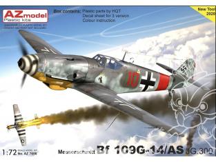 AZ Model Decalques avion AZ7656 Bf 109G-14/AS JG.300 moule 2020 1/72