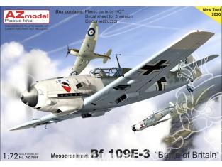 AZ Model Decalques avion AZ7658 Bf 109E-3 Bataille d'Angleterre moule 2020 1/72