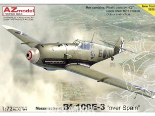 AZ Model Decalques avion AZ7660 Bf 109E-3 Au-dessus de l'Espagne moule 2020 1/72