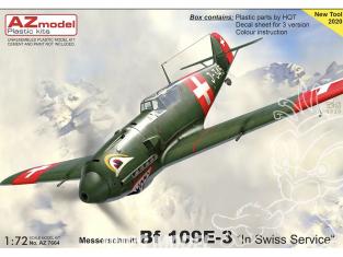 AZ Model Decalques avion AZ7664 Bf 109E-3 Au service de la Suisse moule 2020 1/72