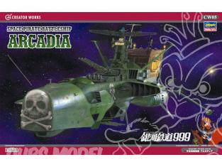 HASEGAWA maquette avion 64505 Galaxy Express 999 Space Pirate Battleship 1/1500