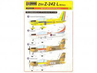 KP Model avion décalques KPEX020 Pour un Z-242L militaire 1/72