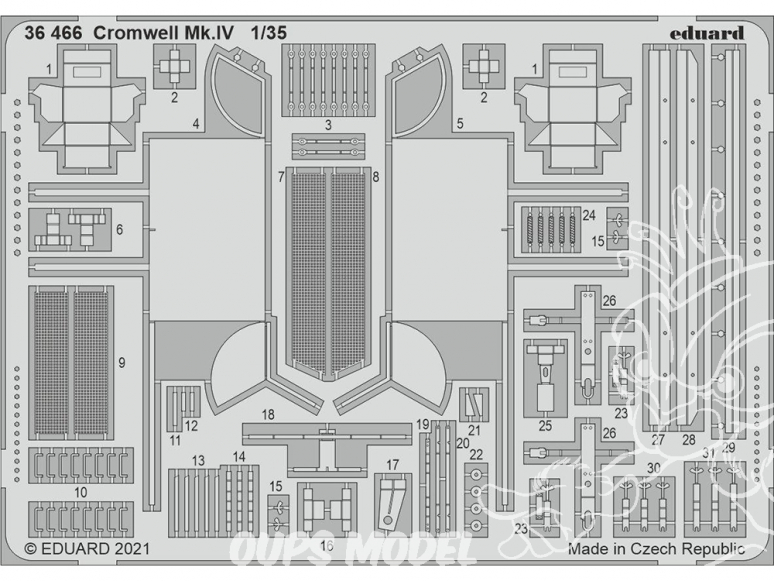 Eduard photodecoupe militaire 36466 Amélioration Cromwell Mk.IV Airfix 1/35