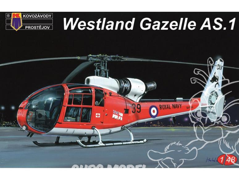 KP Model Hélicoptère Kpm4812 Westland Gazelle AS.1 1/48