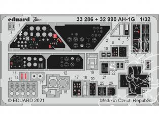 EDUARD photodecoupe hélicoptère 32990 Amélioration AH-1G Icm 1/32