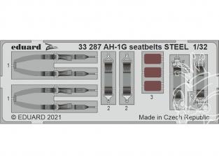 EDUARD photodecoupe hélicoptère 33287 Harnais métal AH-1G Icm 1/32
