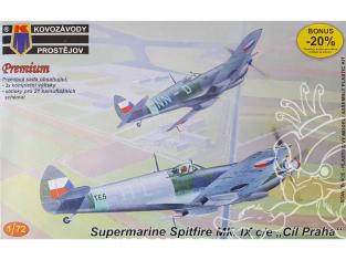 KP Model kit avion KPM0060 Supermarine Spitfire Mk.IXc/e Destination Prague 3x plastic parts, 20x decal version 1/72