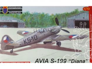 KP Model kit avion KPM0008 Avia S-199 Diana Early 1/72