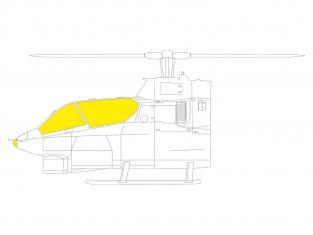Eduard Express Mask JX280 AH-1G TFace Icm 1/32