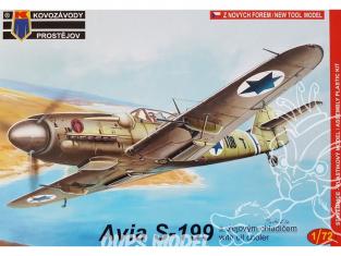 KP Model kit avion KPM0049 Avia S-199 avec Refroidisseur d'huile 1/72