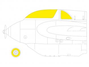 Eduard Express Mask EX795 Messerschmitt Me 163B TFace Gaspatch Models 1/48