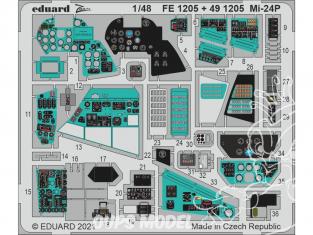 EDUARD photodecoupe hélicoptère 491205 Intérieur Mi-24P Zvezda 1/48