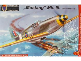 KP Model kit avion KPM0032 North American P-51C Mustang Mk.III Malcolm Hood 1/72