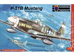 KP Model kit avion KPM0030 North American P-51B Mustang Malcolm hood 1/72