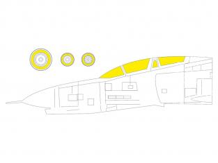 Eduard Express Mask CX603 F-4E Fine Molds 1/72