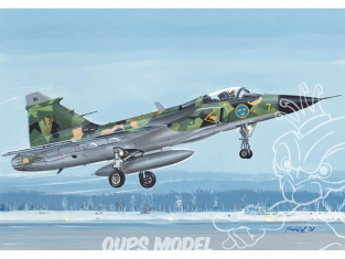 KP Model kit avion KPM0162 JAS-39 Gripen en service suédois 1/72