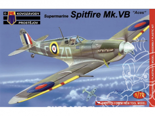 KP Model kit avion KPM0074 Supermarine Spitfire Mk.Vb Ace 1/72