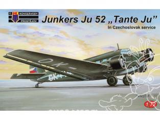 KP Model kit avion Kpm0127 Junkers Ju-52 en service tchécoslovaque 1/72