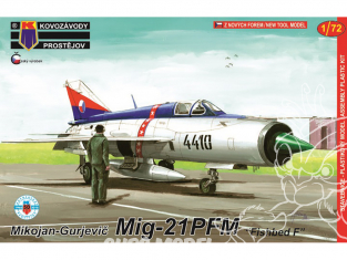KP Model kit avion Kpm0122 Mikoyan-Gourevitch MiG-21PFM Fishbed F 1/72