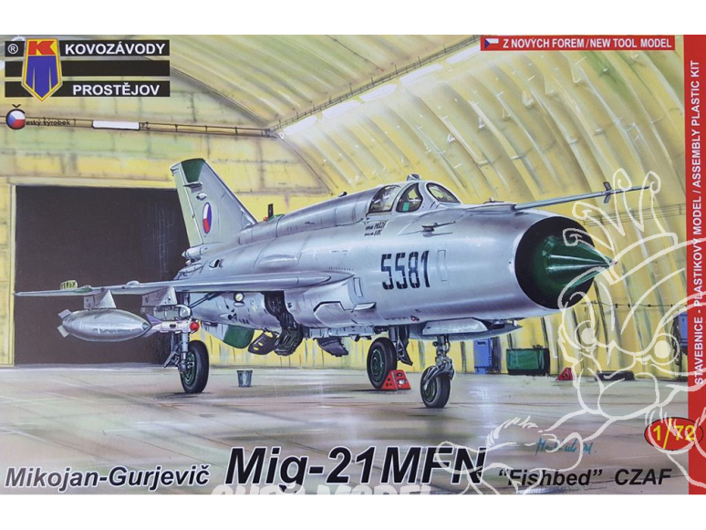 KP Model kit avion Kpm0087 Mikoyan-Gourevitch MiG-21MFN Cz AF 1/72