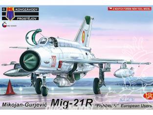 """KP Model kit avion Kpm0086 Mikoyan-Gourevitch MiG-21R """"Fishbed H"""" Utilisateurs européens 1/72"""