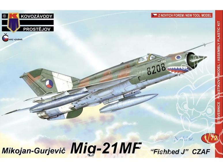 KP Model kit avion Kpm0084 Mikoyan-Gourevitch MiG-21MF CZ AF 1/72