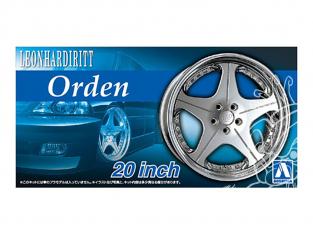 """Aoshima maquette voiture 054642 Jantes Orden Leonhardiritt 20"""" et pneus 1/24"""