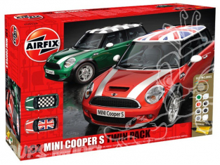 Airfix maquette voiture 50126 Mini Cooper S kit complet Twin pack 1/32