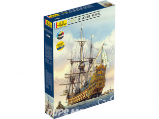 Heller maquette bateau 58899 STARTER KIT Soleil Royal avec nouvelle brochure inclus peintures principales colle et pinceau 1/100