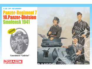 dragon maquette militaire 6655 Panzer-Regiment 7 10.Panzer-Division, Smolensk 1941 figurine Bonus Generaloberst Guderian 1/35