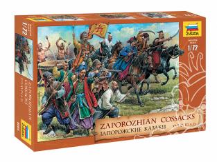 Zvezda maquette figurines 8064 Cosaques zaporogues XVIe-XVIIIe siècles A.D 1/72