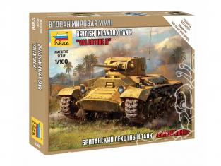 "Zvezda maquette militaire 6280 Char d'infanterie britannique ""Valentine"" II 1/100"